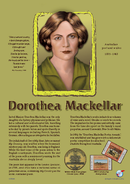 my country by dorothea mackellar essay My country by dorothea mackellar provides sufficient proof that an individual's alienation with the landscape leads to the development of the reflection opportunities and the realization of its worth, beauty and power.